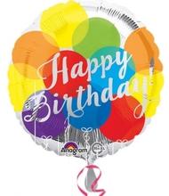 Šťastné narozeniny foliový balónek 43cm