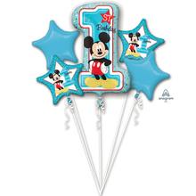 Mickey 1. narozeniny balónky sada 5 ks