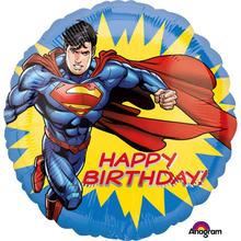 Superman balónek šťastné narozeniny 43 cm