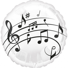 Balónek hudba - noty 43 cm 53b555a4e0