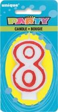 Svíčka na dort číslo 8