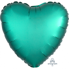 Balónek srdce foliové satén zelené 42 cm