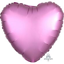 Balónek srdce foliové satén světle fialové 42 cm