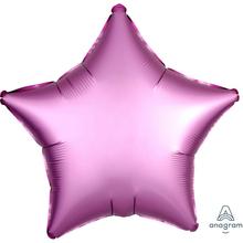 Balónek hvězda foliová satén světle fialová 43 cm