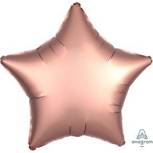 Balónek hvězda foliová satén Copper 43 cm