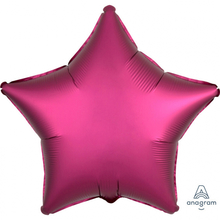 Balónek hvězda foliová satén tmavě červená 42 cm