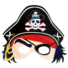 Pirát maska papírová 21,6 cm x 22,8 cm