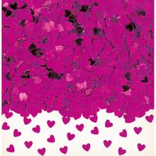 Konfety srdíčka tmavě růžové 14 g