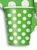 Kelímky zeleno - bílé tečky 6ks 355ml