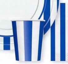 Kelímky modrý proužek 6ks 0,25l