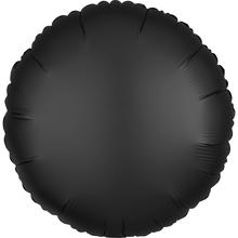 Balónek kruh satén černý