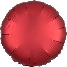 Balónek kruh foliový satén červený SANGRIA