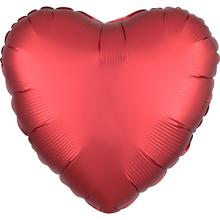 Balónek srdce foliové satén červené SANGRIA