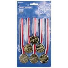 Medaile 6 ks 3,5cm