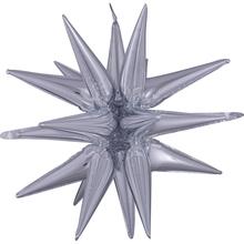 Hvězda stříbrná 76 cm x 88 cm 3D fóliový balón