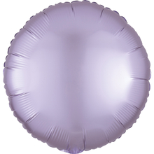 Balónek kruh foliový satén světle fialový