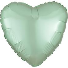 Balónek srdce foliové satén mint