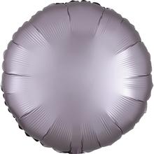 Balónek kruh foliový satén růžovo-šedý