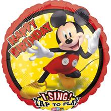 Mickey Mouse hrající balónek 71 cm x 71 cm