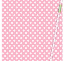 Balící papír světle růžovo - bílé tečky 76,2cm x 1,52m