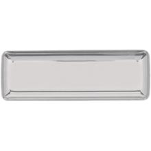 Podnos mini stříbrný plastový 10 ks 19 cm x 6,3 cm