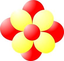 Balónky kytka červeno-žlutá