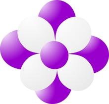 Balónky kytka fialová
