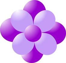 Balónky kytka fialová-lavender