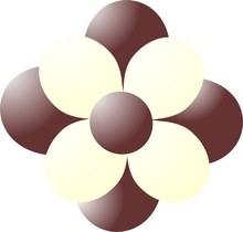 Balónky kytka hnědá-vanilla