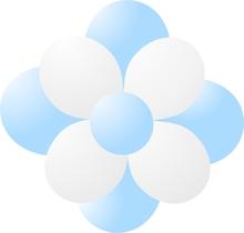 Balónky kytka ice blue