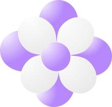 Balónky kytka lavender