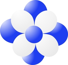 Balónky kytka modrá
