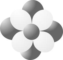 Balónky kytka šedá
