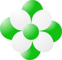 Balónky kytka světle zelená