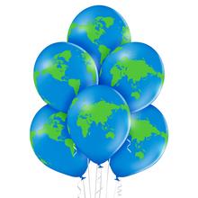 Zeměkoule balónky 6 ks 30 cm