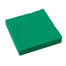 Ubrousky zelené 20ks 3-vrstvé 33cm x 33cm