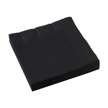 Ubrousky černé 20ks 3-vrstvé 33cm x 33cm
