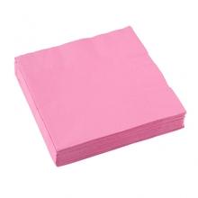 Ubrousky světle růžové 20ks 3-vrstvé 33cm x 33cm