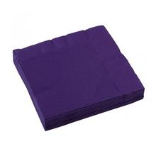 Ubrousky fialová 20ks 3-vrstvé 33cm x 33cm