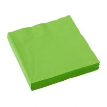 Ubrousky světle zelené 20ks 3-vrstvé 33cm x 33cm