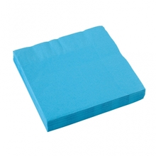 Ubrousky světle modré 20ks 3-vrstvé 33cm x 33cm