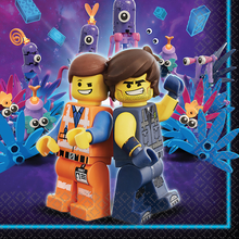 Lego Movie 2 ubrousky 16 ks 33 cm x 33 cm