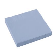 Ubrousky světle modré 20 ks 33 cm x 33 cm 2-vrstvé