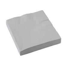Ubrousky stříbrné 20 ks 33 cm x 33 cm 2-vrstvé
