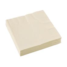 Ubrousky krémové 20 ks 33 cm x 33 cm 2-vrstvé