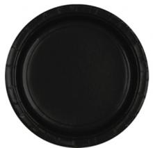 Talíře papírové Black 8ks 18cm
