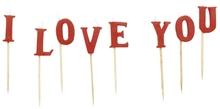 Dortové svíčky I LOVE YOU 7,5cm