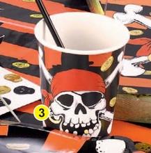 Piráti party kelímky 8ks ,0,25l