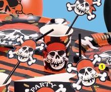 Piráti slámky na pití 8ks, 24cm