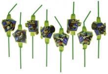 Želvy Ninja slámky na pití 8ks